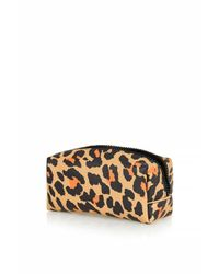 TOPSHOP - Multicolor Matt Leopard Print Makeup Bag - Lyst
