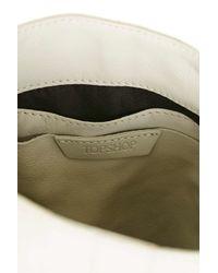 TOPSHOP White Western Buckle Cross Body Bag