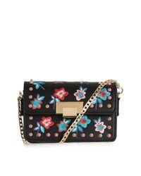 TOPSHOP | Black Rosie Floral Study Crossbody Bag | Lyst