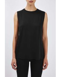 TOPSHOP - Black Boy Tank Top By Boutique - Lyst