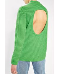 TOPSHOP | Green Cashmere Blend Cut Out Jumper By Boutique | Lyst