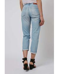 TOPSHOP - Blue Petite Straight Jeans - Lyst