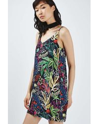 TOPSHOP - Multicolor Petite Jungle Print Slip Dress - Lyst