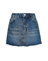 TOPSHOP | Black Petite Highwaisted Mini Skirt | Lyst