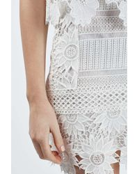 TOPSHOP - White Petite Cutwork Lace Skirt - Lyst