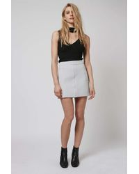 TOPSHOP - White Crepe Pocket Mini Skirt - Lyst