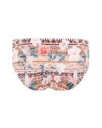 ef2a052d22d61 Topshop Maternity Aztec Floral Bikini Bottoms - Lyst