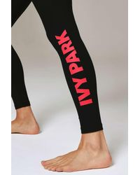 Ivy Park - Black Logo Ankle Legging By - Lyst