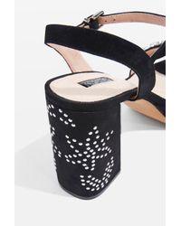 TOPSHOP - Black Lovely Jewel Front Platform Shoes - Lyst