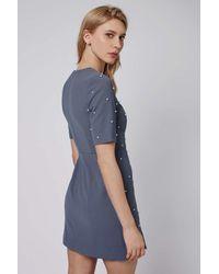 TOPSHOP - Blue Pearl A-line Dress - Lyst