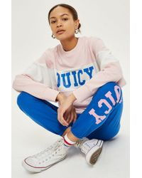 Juicy Couture - Blue Logo Varsity Joggers By Juicy By - Lyst