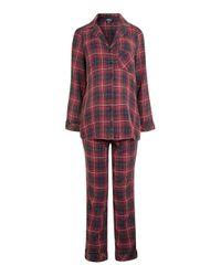TOPSHOP | Maternity Red Check Pyjama Set | Lyst