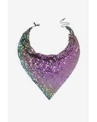 TOPSHOP | Purple Petrol Chainmail Scarf Necklace | Lyst