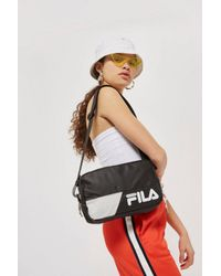 TOPSHOP - White Black Hale Waist Pack By Fila - Lyst