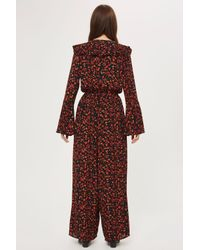 Band Of Gypsies - Red Ditsy Floral Jumpsuit By - Lyst