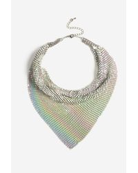 TOPSHOP - White Chainmail Scarf Necklace - Lyst