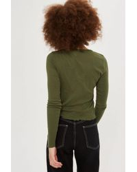 TOPSHOP - Green Tall Lettuce Crop Top - Lyst