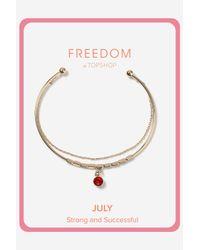 TOPSHOP - Red Ruby July Birthstone Bracelet - Lyst