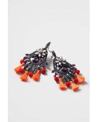 TOPSHOP - Multicolor Mega Carnival Tassel Earrings - Lyst