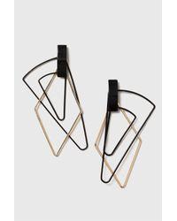 TOPSHOP | Black Fine Layered Shape Drop Earrings | Lyst