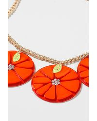 TOPSHOP - Oversized Orange Necklace - Lyst