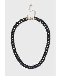 TOPSHOP - Black Rubber Chain Necklace - Lyst