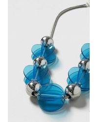 TOPSHOP - Blue Statement Resin Ball Necklace - Lyst