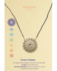TOPSHOP - Metallic Crown Chakra Ditsy Necklace - Lyst