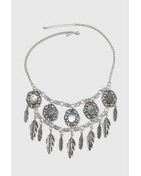TOPSHOP | Metallic Mega Abalone Feather Collar | Lyst