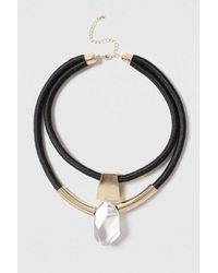 TOPSHOP - Metallic Tube And Shard Multirow Neckwear - Lyst