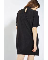 Glamorous - Black Choker T-shirt Dress By - Lyst