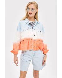 TOPSHOP - Multicolor Petite Tie Dye Jacket - Lyst