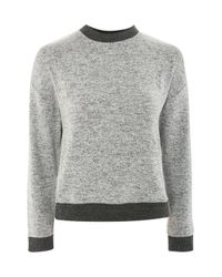 TOPSHOP - Gray Super Soft Sweatshirt - Lyst