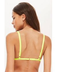 TOPSHOP - Natural Two Tone Lace Triangle Bra - Lyst