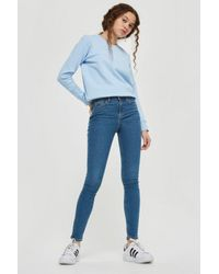 eaa06c793d3 TOPSHOP Petite Moto Authentic Jamie Jeans in Blue - Lyst