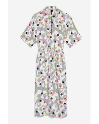 TOPSHOP - Multicolor Utility Dress By Boutique - Lyst