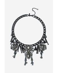 TOPSHOP - Black Magic Collar Necklace - Lyst