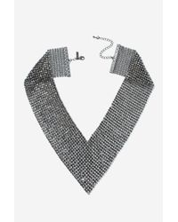 TOPSHOP | Brown Chainmail V Collar | Lyst