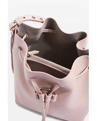 TOPSHOP - Pink Ring Drawstring Bucket Bag - Lyst