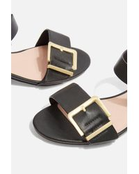 TOPSHOP - Black Dare Two Part Low Sandals - Lyst