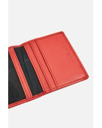 TOPSHOP - Red Peggy Oyster Card Holder - Lyst