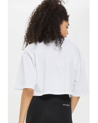 TOPSHOP - White Logo Crop V Tee By Ivy Park - Lyst