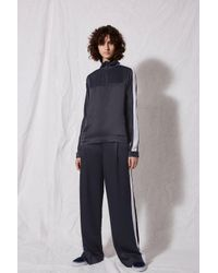 TOPSHOP - Blue Satin Sports Top By Boutique - Lyst