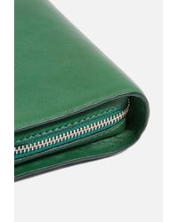 TOPSHOP - Green Sophie Leather Studded Cross-body Bag - Lyst