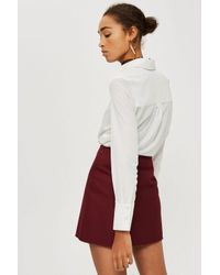 TOPSHOP - Multicolor Bonded Raw Skirt - Lyst