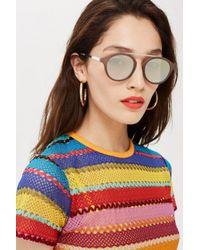 TOPSHOP - Pink Larry Bridgeless Tortoiseshell Sunglasses - Lyst