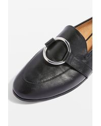 TOPSHOP - Black Kreme Ring Loafers - Lyst