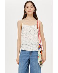 TOPSHOP - Pink Sprinkle Spot Camisole - Lyst