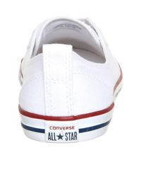 Converse - Red Converse Ctas Ballet Lace Trainers - Lyst