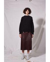 TOPSHOP - Black Plaited Cable Knit Jumper By Boutique - Lyst